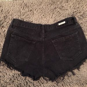 Brandy Melville Shorts - Black high waisted jean shorts